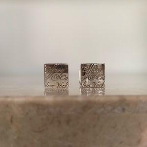 🎉HOST PICK🎉 Tiffany & Co. Square Note Cuff Links